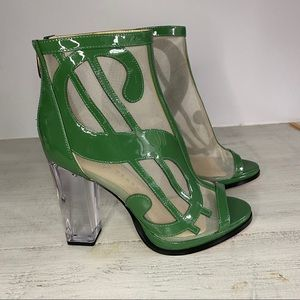 Katy Perry Richie Dollar Sign Heels Lucite Bootie